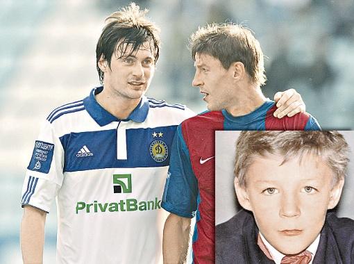 Максим Шацких (справа, он же - на фото в детские годы) - Артему Милевскому: - А у тебя, Артем, что по поведению в школе было?