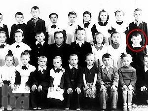 Витя Янукович - ученик 1-го класса. 1958 г.