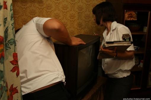 Телевизор барахлит, но даже показывает... Фото автора