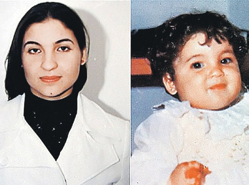 Хана в 1986 г. (справа), а рядом, как утверждают повстанцы, она же - в наши дни.