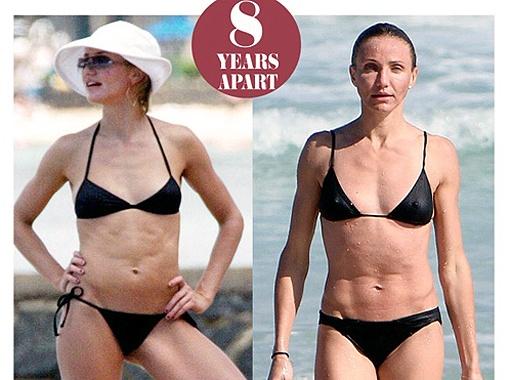 Фигура Кэмерон Диас в 38 лет ничуть не отличается от того шикарного тела, которое она продемонстрировала в фильме