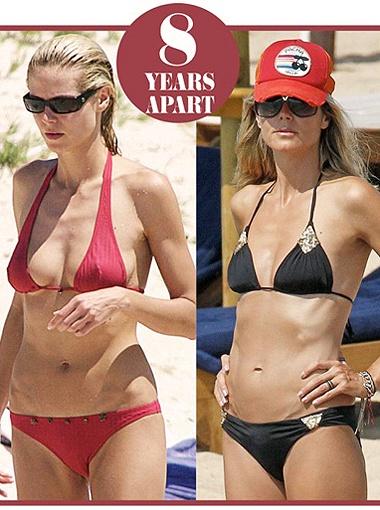 Хайди Клум 8 лет назад и сейчас: и не скажешь, что модель родила четверых детей! Фото Daily Mail.