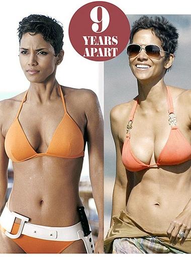 Возраст не властен над Холли Берри: в свои 45 она хороша, как и в фильме про Джеймса Бонда 9 лет назад. Фото Daily Mail.