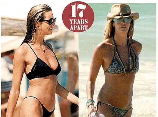 Эль Макферсон в 48 лет и в 31. Фото Daily Mail.