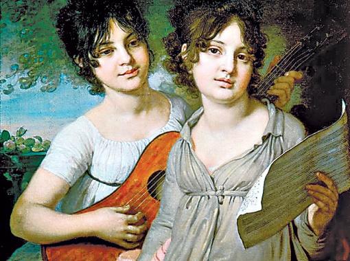 Женские образы особенно удавались провинциальному художнику.
