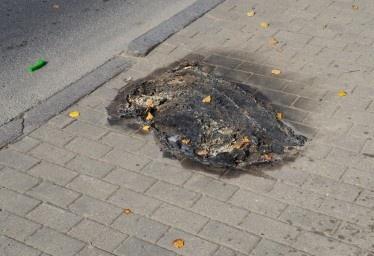 На месте происшествия остались горелые тряпки. Фото с сайта: mixnews.lv