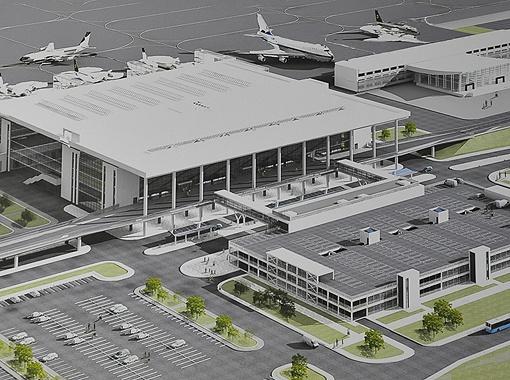 Вот таким будет новый донецкий аэропорт. Фото автора.