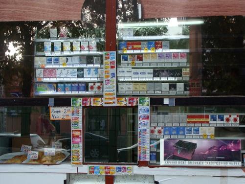 Ларек с табачными изделиями возле Камелота. Фото предоставлено пресс-службой Коалиции