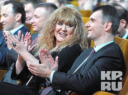 Алла Пугачева и Михаил Прохоров. Фото Анатолия Жданова.