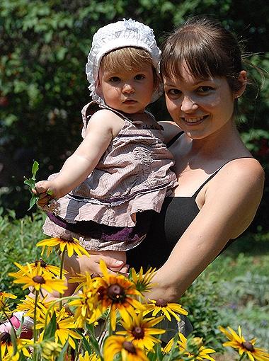 Яна со своей дочуркой Никой смогли найти