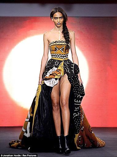 В коллекцию House of Dereon вошли в основном платья и юбки в стиле этно. Фото Daily Mail.