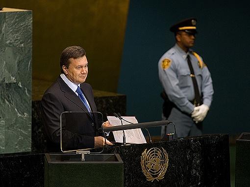 Янукович расскажет на Генассамблее, как защитить мир от ядерного оружия. Фото Михаила МАРКИВА.
