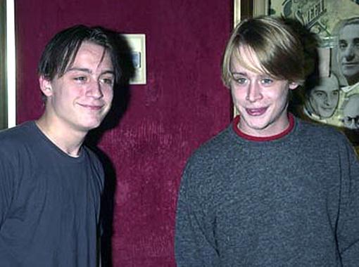 Киран Калкин и его старший брат Маколей.