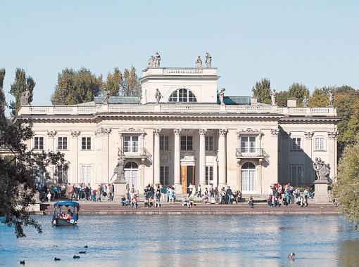 Дворец на воде - резиденция последнего польского короля Станислава Понятовского.