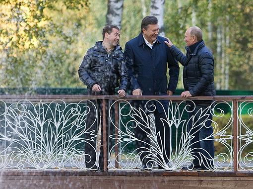 Встреча Медведева, Януковича и Путина в Завидово была дружественной.