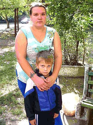 Людмила и спасенный Давид.