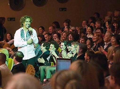 На финальноую песню Галкин вышел в народ. Фото Елизаветы Суховой.