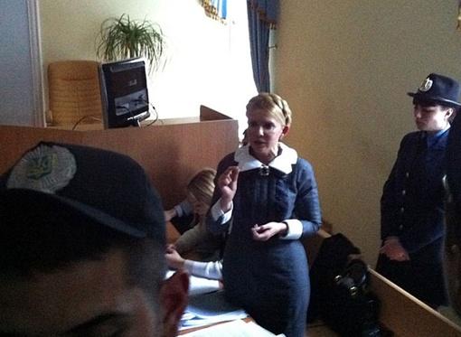 Тимошенко во время перерыва. Фото с сайта БЮТ