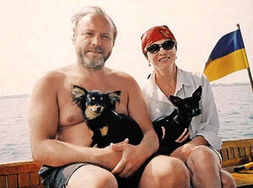 Евпатория, 2007-й. Любимые собаки Гаврик и Пепа везде сопровождали свою знаменитую хозяйку.