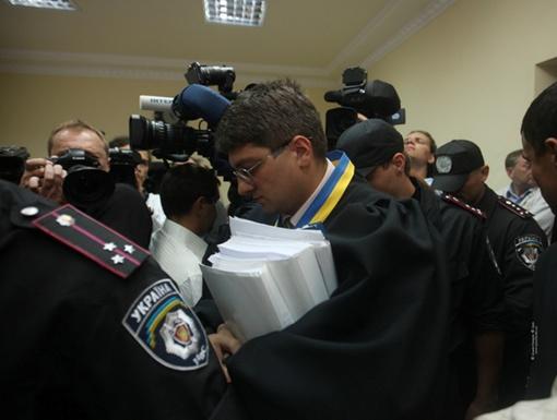 Судья Киреев сегодня выслушивает подсудимую. Фото с официального сайта Тимошенко
