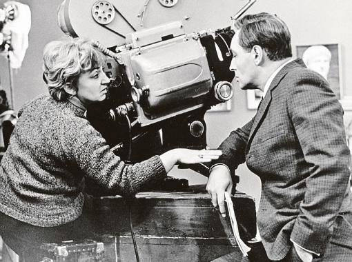 1973 год. Татьяна Лиознова со Штирлицем - Вячеславом Тихоновым на съемках