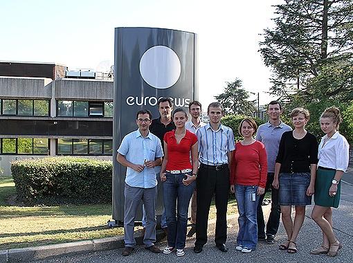 Украинская команда Euronews. Фото Euronews.
