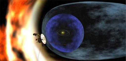 Вдали – Солнце, на переднем плане – гипотетический звездолет пришельцев. Фото с сайта astronet.ru.