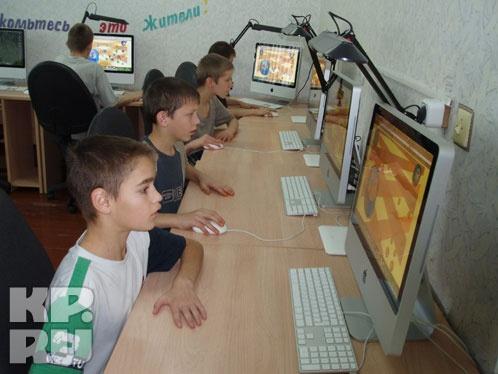 На втором этаже здания расположился компьютерный класс с техникой фирмы Apple Фото: Лариса МАКСИМЕНКО