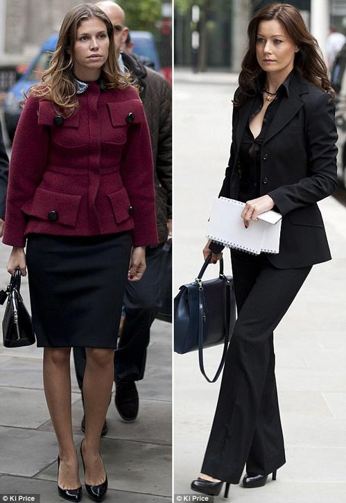 Пока их спутники жизни бьются в суде, Дарья Жукова и Елена Горбунова дали повод таблоидам пообсуждать свои наряды. Фото: Daily Mail.