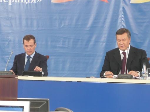 Янукович и Медведев прибыли к открытию форума. Фото