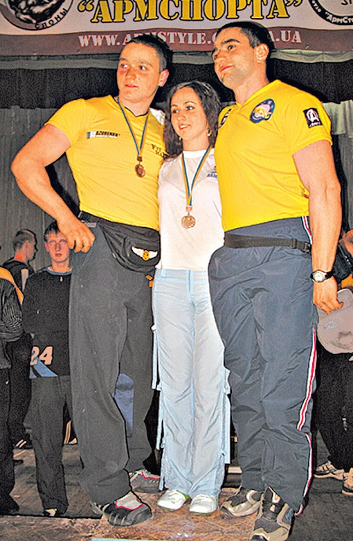 Руслан, Снежана и Рустам (слева - направо). Вот такой семейный
