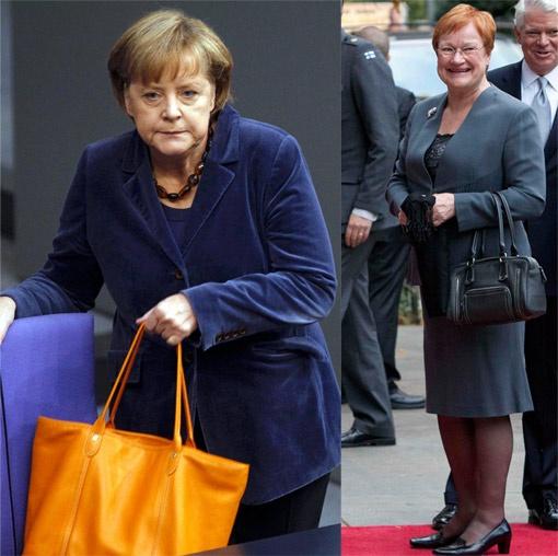 Тарья Халонен (на фото справа) и Ангела Меркель популяризируют на политической сцене стиль домохозяек.