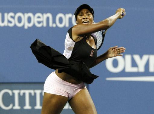 Венус Уильямс считает, что в теннисе удачу приносят коротенькие юбчонки.