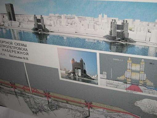 Один из проектов застройки набережной на Воронцовке. Фото автора.