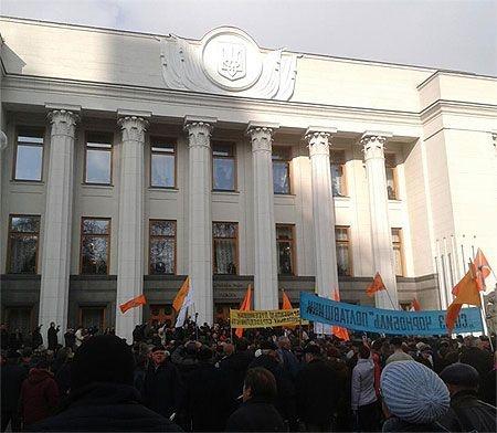 Акция началась в 9 утра. Фото с Facebook Александра Аргата
