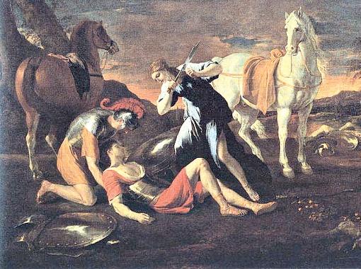 Никола Пуссен. Танкред и Эрминия. 1630-е годы.