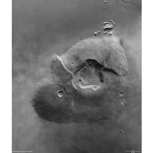 Вулкан Тарсис Толус . Фото: ESA