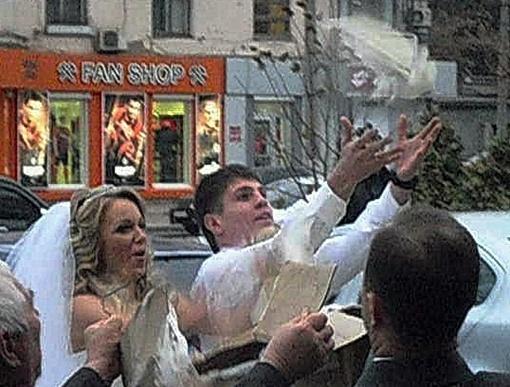 Свадьбу сыграли в лучшем ресторане Кривого Рога
