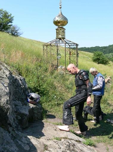 Коржовый Кут уже стал местом паломничества, куда едут со всей Украины. А эти байкеры - вообще из Бельгии.