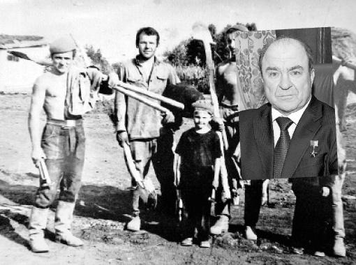 Леонид Губерский (на фото слева) на целине в Казахстане в 1965 году