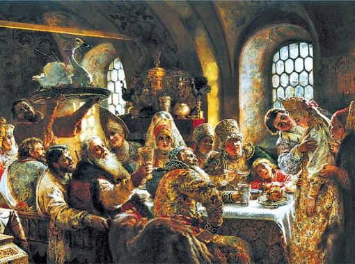 Константин Маковский. Пир в боярской семье в XVII веке.