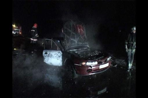 Водитель успел выкатится из салона, но на нем горел спортивный костюм