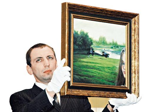 Полотно Никаса Сафронова продали за 33 тысячи долларов.