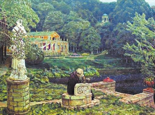 Аполлинарий Васнецов. Шум старого парка, 1926 год.
