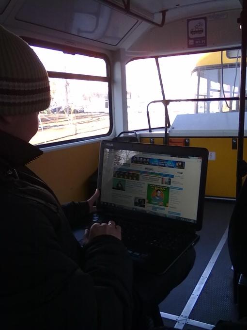 Пока полезной функцией оснащен только один трамвай первого маршрута.