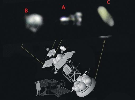 A, B, C - реальные фото станции