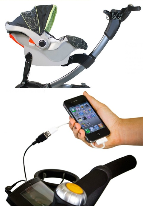 С помощью адаптеров стандартное сиденье коляски можно заменить на люльку или автомобильное кресло. И