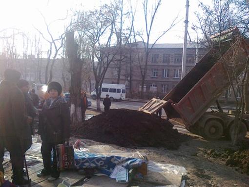 На месте палаток чернобыльцев сажают елки. Фото: Остров