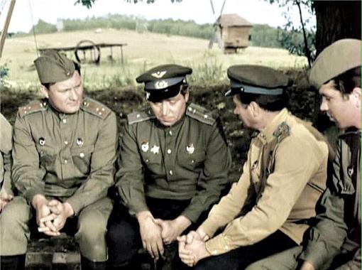 ...  Для того чтобы стилизация была идеальной, Быков специально пригласил на фильм оператором Владимира Войтенко, который во время войны работал оператором военной хроники.
