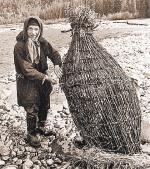...ловушка для рыбы из прутьев....
